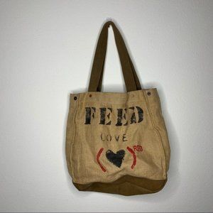 Feed burlap Purse